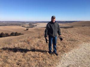 Steve Jones at Konza Prairie
