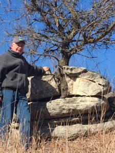 Steve Jones at Konza Prairie Crab Apple