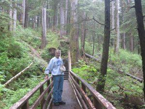 Steve Jones along Trail in Sitka, Alaska