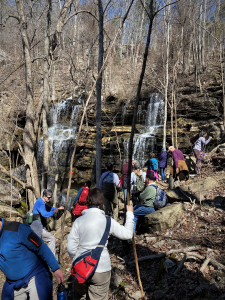 Opening Hike, Group at Falls